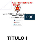 Lei Nº 7.479-1986 Estatuto Do Corpo de Bombeiros