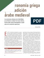 La Astronomia Griega y La Tradicion Arabe Medieval