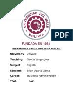 Biography Jorge Wistelmann Fc