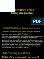 Presentation Skills - Dealing With Questions