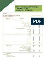 Lista de Cotejo INF1