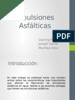 EMULSIONES ASFALTICAS - PRESENTACION