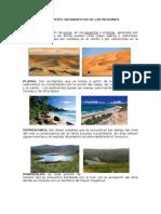 Costa Sierra y Selva Accidentes Geograficos