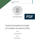 QUINTERO - Diseño de Una Planta de Reciclado de Tereftalato de Polietileno (PET), Con Una Producc...