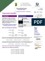 Identidades Trigonometricas