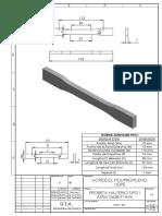 Probeta Halterio Tipo i Astm d638-t7mm