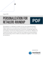 PERSONALIZATION FOR RETAILERS ROUNDUP