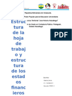 Informe de Estruturas de Las Hojas de Trabajo