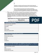 IHK FOSA Application Form