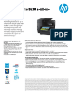 HP OfficeJet 8630 AiO Printer Specifications