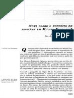 Notas Sobre o Conceito de Épistème em Michel Focault