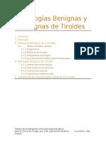 Patologías Benignas y Malignas de Tiroides