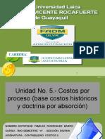 Unidad 5. Sist Costos Por Proceso - Rodriguez Estefaniepptx