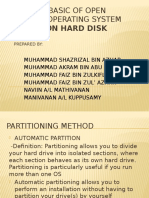 BASIC OPEN SOURCE OS - PARTITION HARD DISK