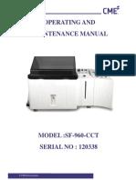 Manual Sf 960 Cct