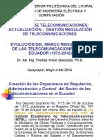 Evolución Del Marco Regulatorio de Las Telecomunicaciones