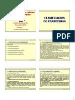 CLASIFICACION DE CARRETERAS