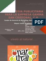 Estrategia Publicitaria Para La Empresa Gamma San Cristobal