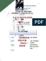 Trabajo monografico El Fichaje