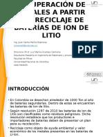 Recuperación de Metales a Partir Del Reciclaje de Baterias de Litio2