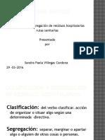 Clasificación y Segregación de Residuos Hospitalarios
