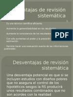 Ventajas de Revisión Sistemática