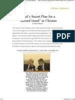 Israels Secret Plan for a Second Israel in Ukraine