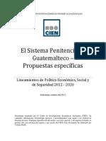 Propuestas El Sistema Penitenciario Guatemalteco 10-02-2011