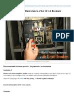 Electrical Preventive Maintenance of Air Circuit Breakers _ EEP