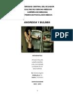Anorexia y Bulimia