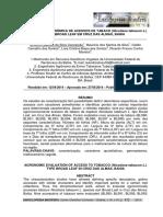 AVALIAÇÃO AGRONÔMICA DE ACESSOS DE TABACO (Nicotiana tabacum L.) TIPO BROAD LEAF EM CRUZ DAS ALMAS, BAHIA