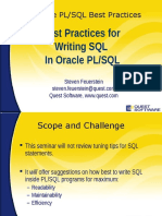 Best Practices for Writing SQL in Oracle PLSQL