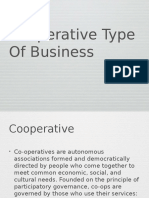 Cooperative Type of Business