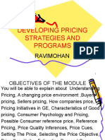 Developing Pricing Strategies and Programs1