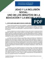 LA EQUIDAD Y LA INCLUSIÓN SOCIAL