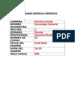 Formulario Entrega Control