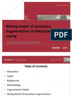 Mixing Model of Secondary Fragmentation in Block-panel Caving (2)