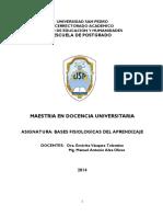 Modulo Bases Fisiológicas Del Aprendizaje - 2014