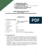 Silabo - Teorias Del Aprendizaje y Enfoque Psicopedagogico 2014
