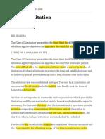 Law of Limitation — Timesofindia.indiatimes