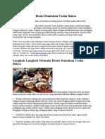 Pembahasan Singkat Strategi Bisnis 4P Untuk Peluang Bisnis Rumahan Usaha Bakso