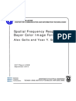 Spatial Frequency Response of Bayer color image formation