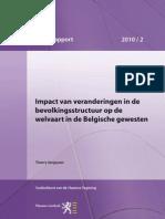 Impact van veranderingen in de bevolkingsstructuur op de welvaart in de Belgische gewesten