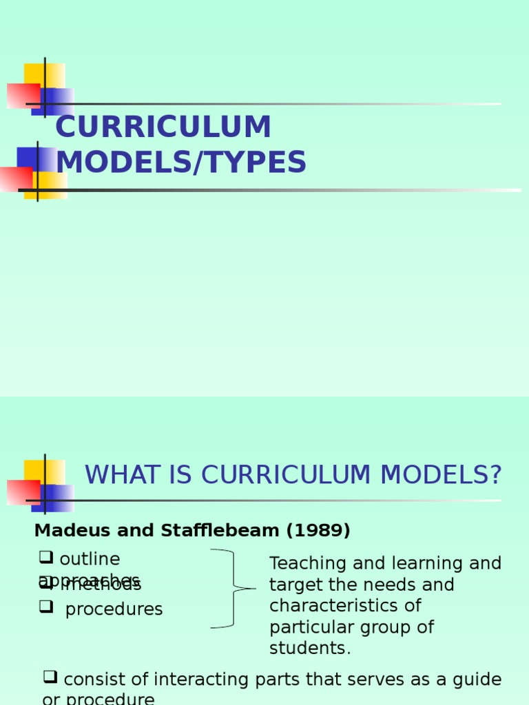 Curriculum Models and Types | Currículo | Avaliação