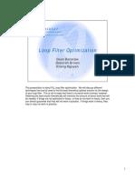 Loop Filter Optimization
