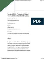 Experimental Study of Estimating the Subgrade Reaction Modulus