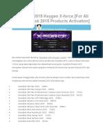 AutoCAD 2015 Keygen X