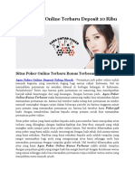 Situs Poker Online Terbaru Deposit 10 Ribu
