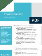 2.Kewirausahaan