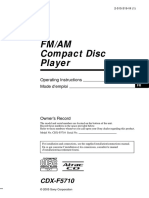 CDXF5710 Owners Manual